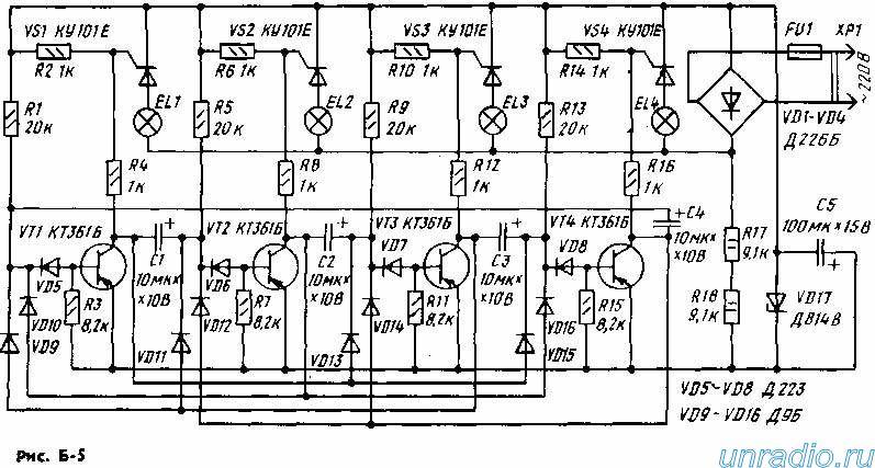 транзистор,диод,гирлянда,мультивибратор