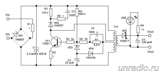 электрическая схема зарядного устройства телефона самсунг - Микросхемы.