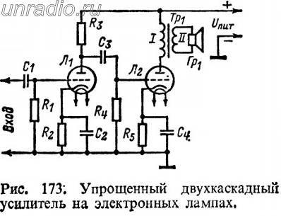 транзисторного усилителя.