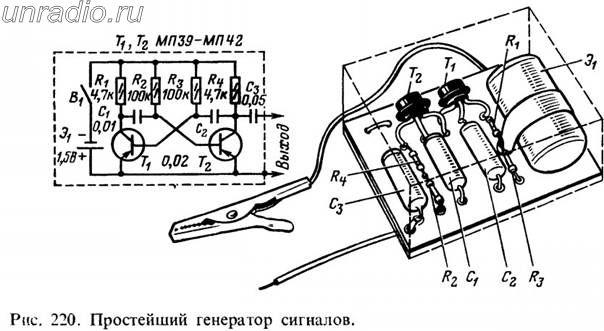 Детали генератора, показанного