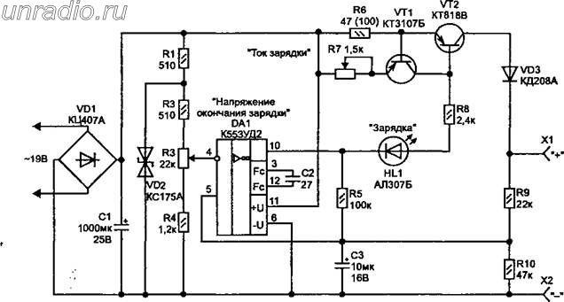 работа транзисторов VT1,