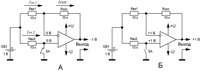 Схема переключаемого инвертирующего/неинвертирующего повторителя