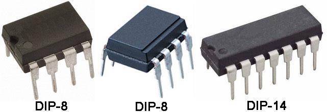 Двухрядные пластиковые корпуса современных ОУ для выводного монтажа (DIP)