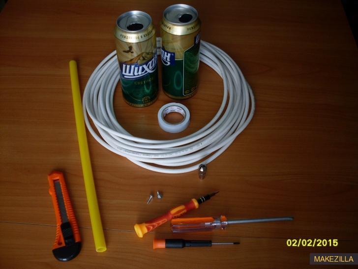 Материалы для самодельной антенны