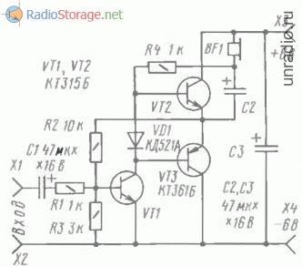 Двухтактный усилитель мощности ЗЧ на транзисторах
