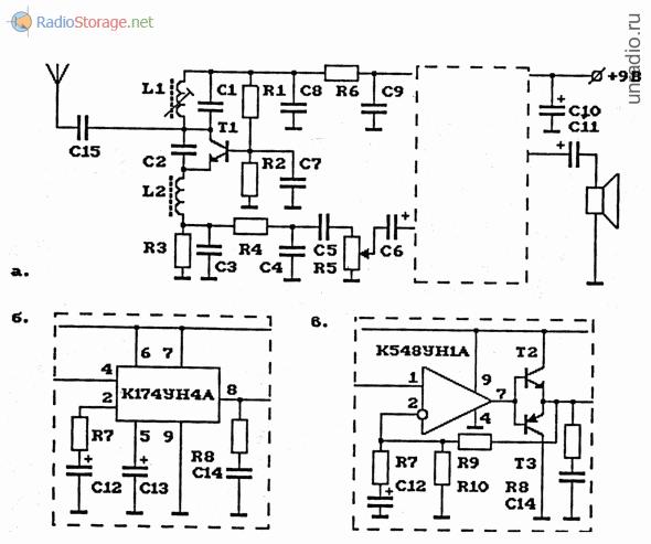 Схема АМ-радиоприемника (сверхрегенератор) на 27 МГц